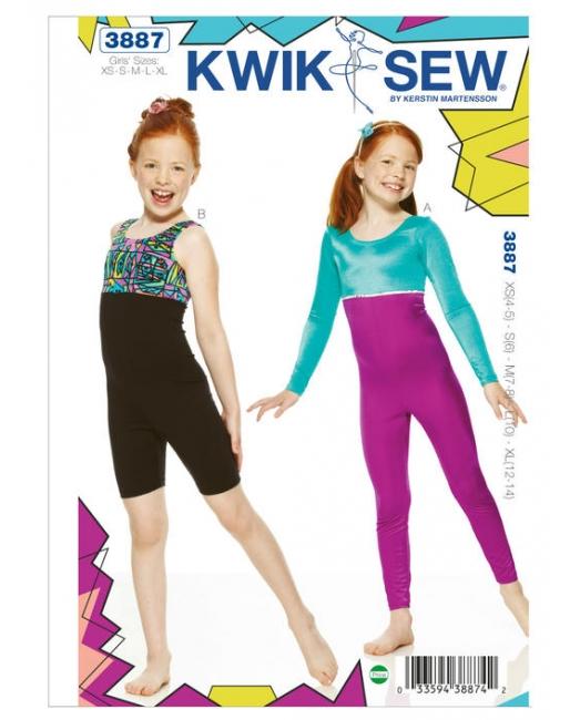KwikSew 3887 - SPORT (70) - schnittmuster-shop.ch über 7000 Schnitte!
