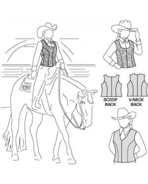 Suitability Zipp Vest Pattern