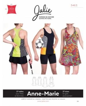 jalie 3463 Anne-Marie Tennis, Velo