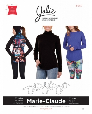 jalie 3667 Marie-Claude Rollkragenpull..