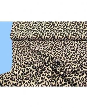 mittelschwerer Jersey mit Leopardenmus..