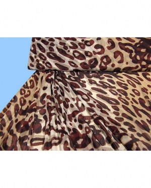Chiffon bedruckt Leopardenmuster