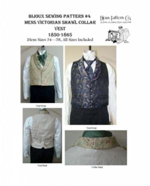 LMM Bijoux Pattern Mens Victorian Shaw..