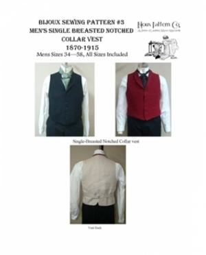 LMM Bijoux Pattern Mens single breaste..