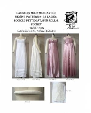 LMM Ladies Bodiced Petticoat, Bum Roll..
