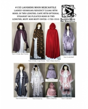 LMM Ladies Georgian & Regency Cloak  135