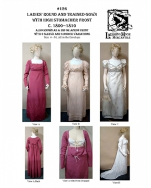 LMM Ladies round and trained Gown  126