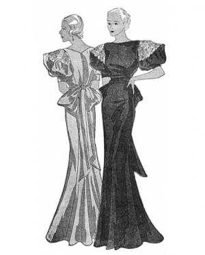 PastPatterns Ladies Evening Gown 1933 ..