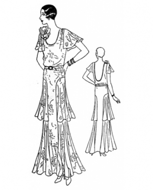 PastPatterns Ladies Evening Gown 1930