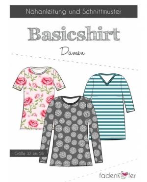 Fadenkäfer Basicshirt Damen