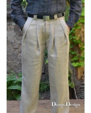 DongoDesign Herren Retro Bundfaltenhose
