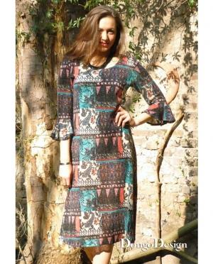 DongoDesign Jersey Kleid mit Volantärmel