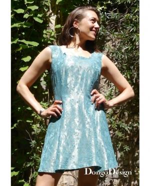 DongoDesign Minikleid Blue Lagune