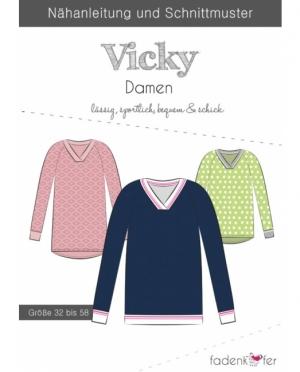 Fädenkäfer V-Neck Pullover Vicky Damen