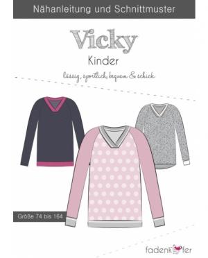 Fadenkäfer V-Neck Pullover Vicky Kinder
