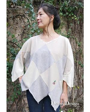 DongoDesign Upcycling Pullover Squaredance