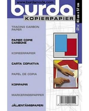 burda kopierpapier blau/rot