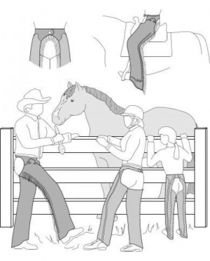 Suitability Western or English Chaps