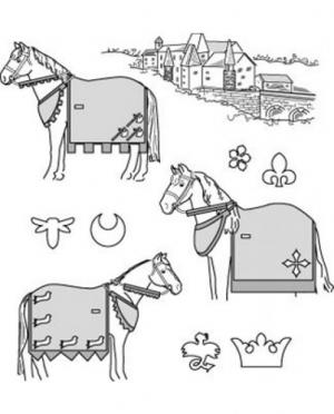 Suitability Medieval Horse Costume Pat..