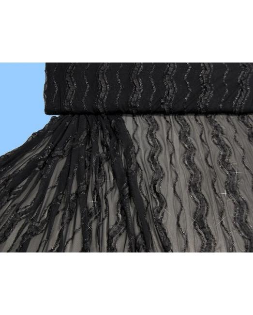 leichter t ll mit eingen htem band schwarz stoff schnittmuster ber 7000 schnitte. Black Bedroom Furniture Sets. Home Design Ideas