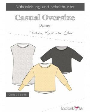 Fädenkäfer Shirt Pullover Casual Oversize Damen