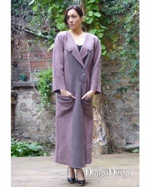 DongoDesign Damen Kragenärmel Mantel