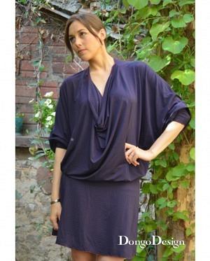 DongoDesign Jersey Fledermaus Kleid