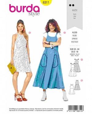 31e0f15fff Burda 6311 - Kleider - schnittmuster-shop.ch über 7000 Schnitte!