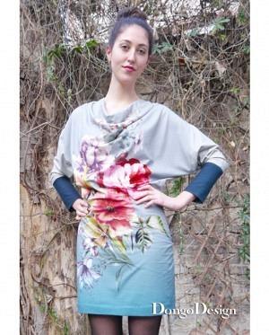 DongoDesign Jersey Kleid Claudias Blumen