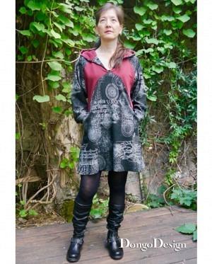 DongoDesign Lisia Hoodie Kleid Tunika