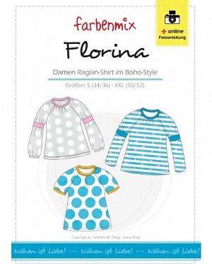 Farbenmix 0147 Damen Raglan Shirt Boho Style