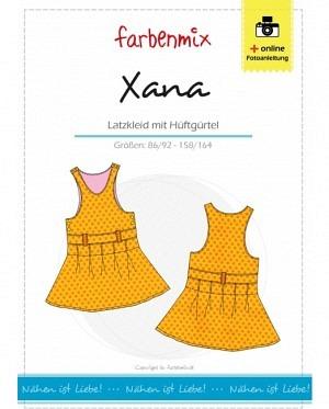 Farbenmix 0215 Xana Latzkleid mit Hüftgürtel