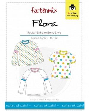 Farbenmix 0221 Flora Raglan Shirt im Boho Style