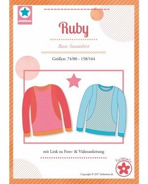 Farbenmix 0416 Sweatshirt Ruby