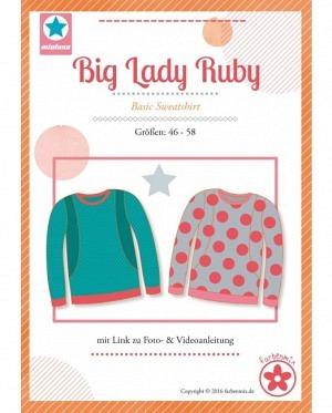 Farbenmix 0417 Sweatshirt Big Lady Ruby