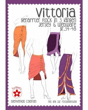 Farbenmix 0423 geraffter Rock Vittoria