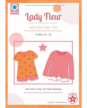 Farbenmix 0430 2 Lagen Shirt Lady Fleur