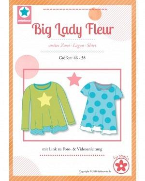 Farbenmix 0431 2 Lagen Shirt Big Lady Fleur