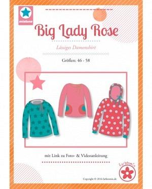 Farbenmix 0407 Damenshirt Big Lady Rose