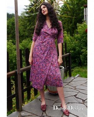 DongoDesign Luna Damen Wickelkleid